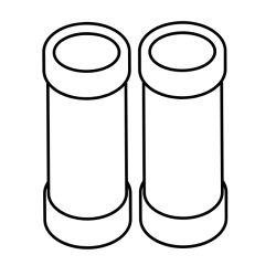 Tube Pietement Poele Pharos  Invicta - Réf AT610354A