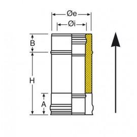Conduit Isolé Inox 25 cm