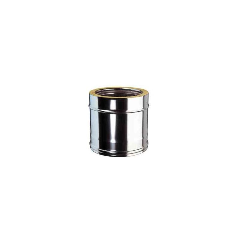 Conduit isol inox droit - Conduit cheminee inox exterieur ...