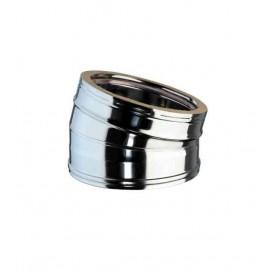 Coude 15 inox pour tubage conduit double paroi isol 25 for Tubage inox double paroi prix