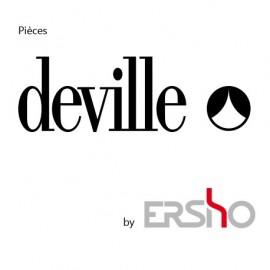 Support Panneau -Peint Noir pour poele à bois Deville